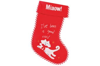 Christmas Shop Pet Cat Stocking (Red/White) (One Size)