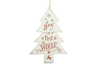 Christmas Shop Tree Sign Decoration (White Joy) (One Size)