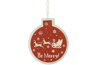 Christmas Shop Bauble Sign Decoration (Red Be Merry) (One Size)