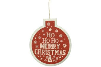 Christmas Shop Bauble Sign Decoration (Red Ho Ho Ho) (One Size)
