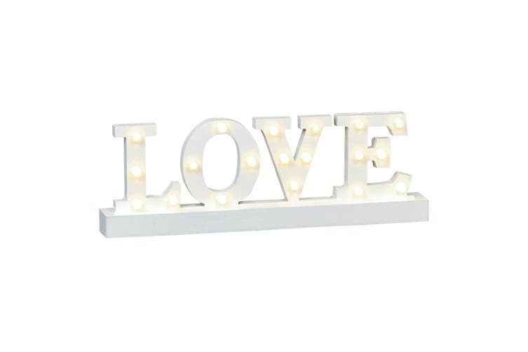 Christmas Shop Wooden Home/Love Lit Sign (Love) (One Size)