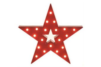 Christmas Shop Red Lit Star Decoration (Red) (One Size)
