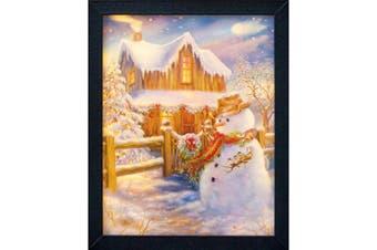 Christmas Shop 3D Lit Snowman Lenticular Picture (Multi Colour) (One Size)