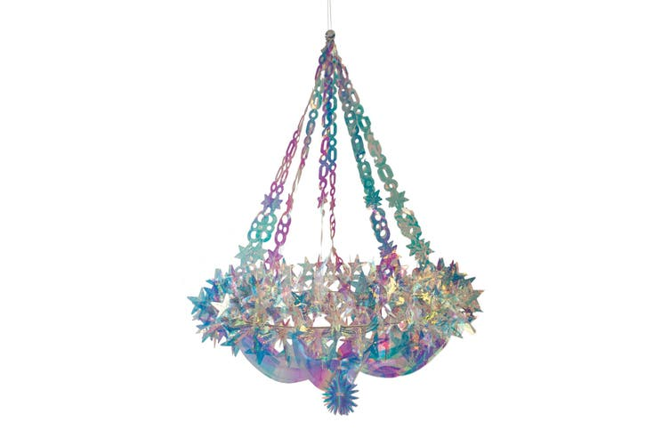 Christmas Shop Holographic Star Chandelier (Holographic) (One Size)