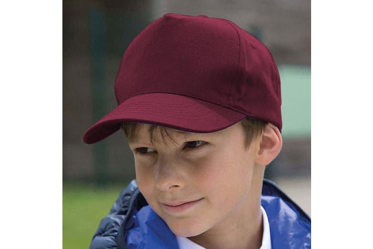 Result Headwear Childrens/Kids Boston 65/35 Polycotton Cap (Burgundy) (One Size)
