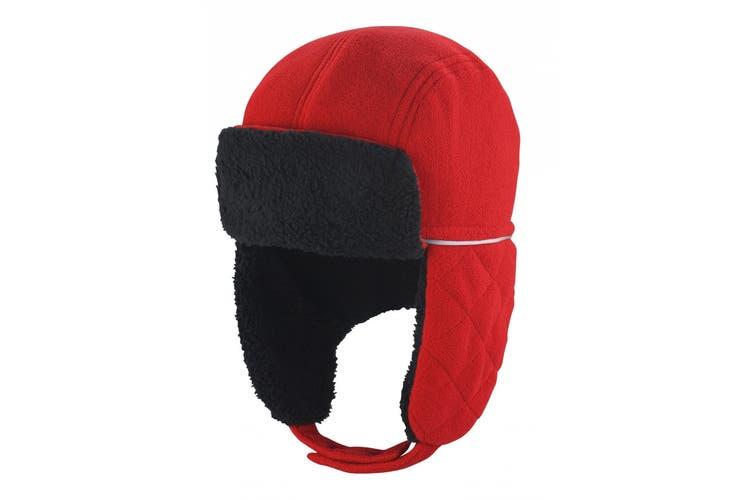 Result Winter Essentials Ocean Trapper Hat (Red/Black) (L/XL)