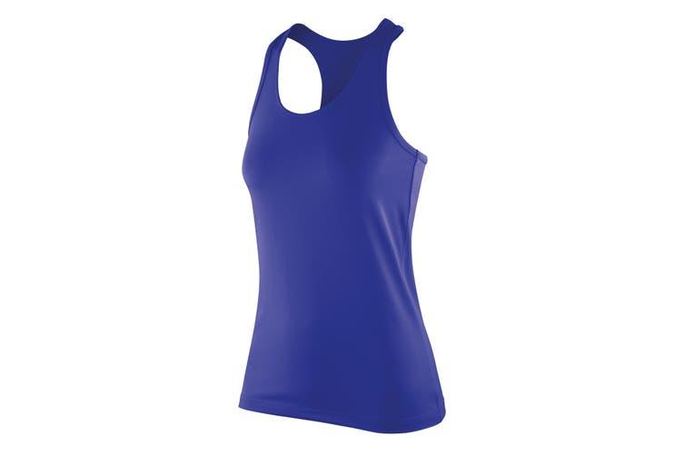 Spiro Womens/Ladies Softex Stretch Fitness Sleeveless Vest Top (Sapphire) (XS)