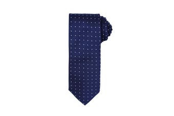 Premier Mens Micro Dot Pattern Formal Work Tie (Navy/ White) (One Size)