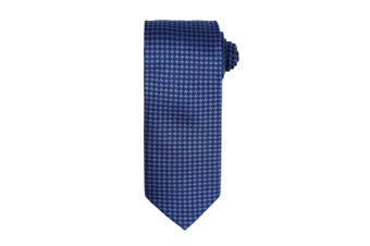 Premier Mens Puppy Tooth Formal Work Tie (Royal) (One Size)