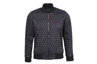 2786 Womens/Ladies Quilted Zip Up Flight Jacket (Black) (2XL)