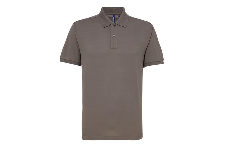 Asquith & Fox Mens Short Sleeve Performance Blend Polo Shirt (Slate) (2XL)