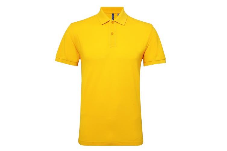 Asquith & Fox Mens Short Sleeve Performance Blend Polo Shirt (Sunflower) (3XL)
