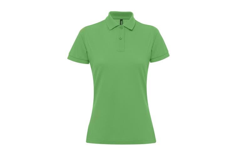 Asquith & Fox Womens/Ladies Short Sleeve Performance Blend Polo Shirt (Kelly) (L)