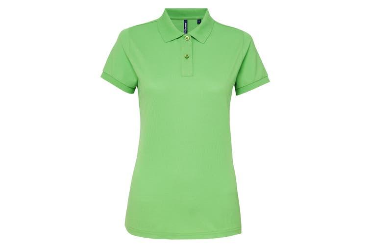 Asquith & Fox Womens/Ladies Short Sleeve Performance Blend Polo Shirt (Lime) (2XL)
