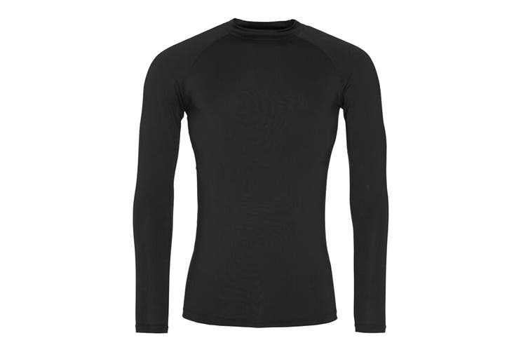 AWDis Just Cool Mens Long Sleeve Baselayer Top (Jet Black) (XL)