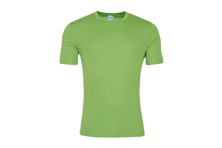 AWDis Just Cool Mens Smooth Short Sleeve T-Shirt (Lime Green) (3XL)
