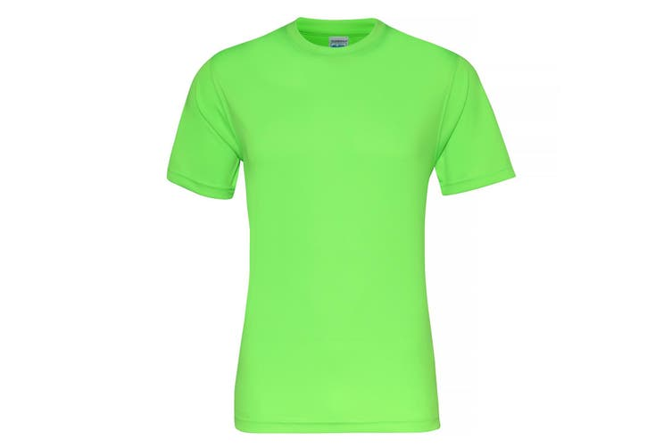 AWDis Just Cool Mens Smooth Short Sleeve T-Shirt (Electric Green) (S)
