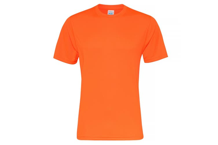 AWDis Just Cool Mens Smooth Short Sleeve T-Shirt (Electric Orange) (XS)