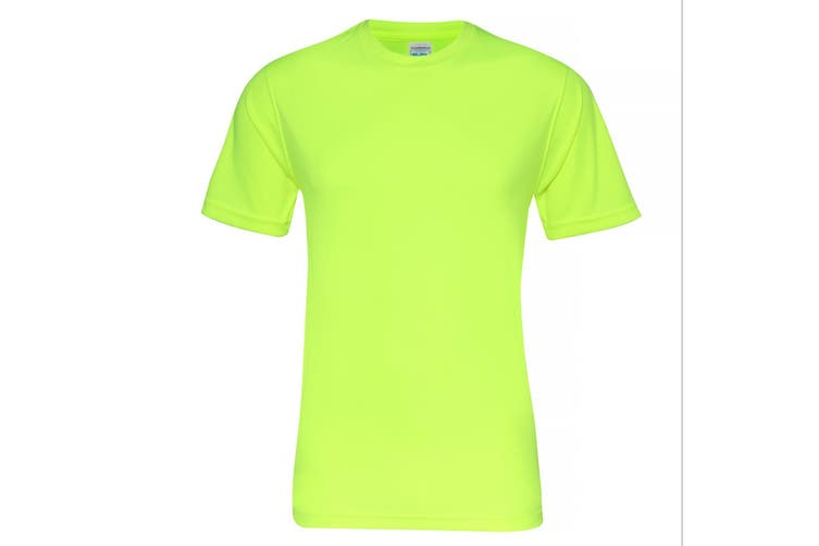 AWDis Just Cool Mens Smooth Short Sleeve T-Shirt (Electric Yellow) (L)
