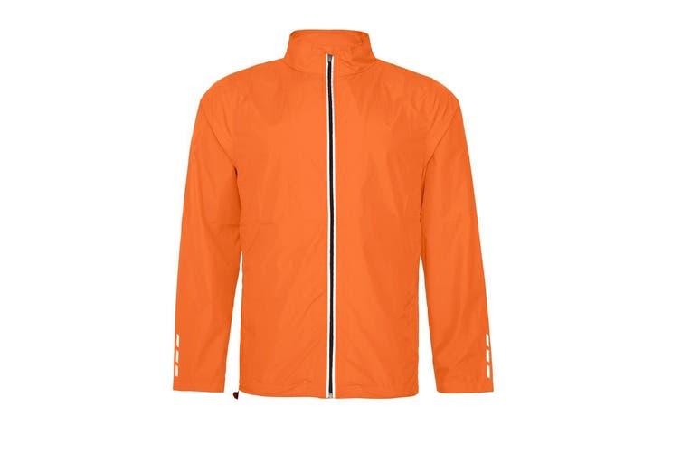 AWDis Just Cool Adults Unisex Showerproof Running Jacket (Orange Crush) (2XL)