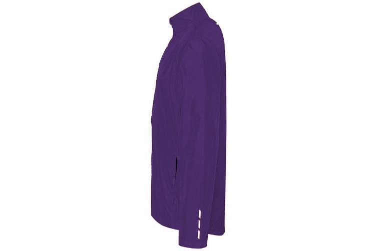 AWDis Just Cool Adults Unisex Showerproof Running Jacket (Purple) (L)