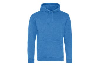 AWDis Hoods Adults Unisex Washed Look Hoodie (Washed Royal Blue) (XS)