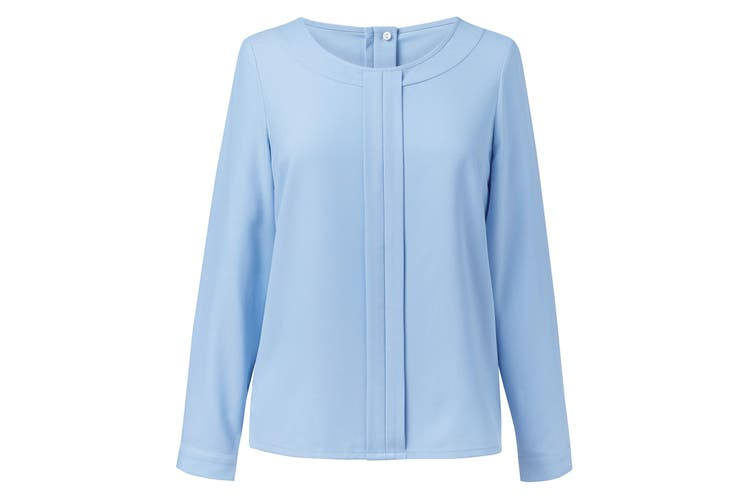 Brook Taverner Womens/Ladies Roma Crepe De Chine Long Sleeved Blouse (Sky Blue) (10)