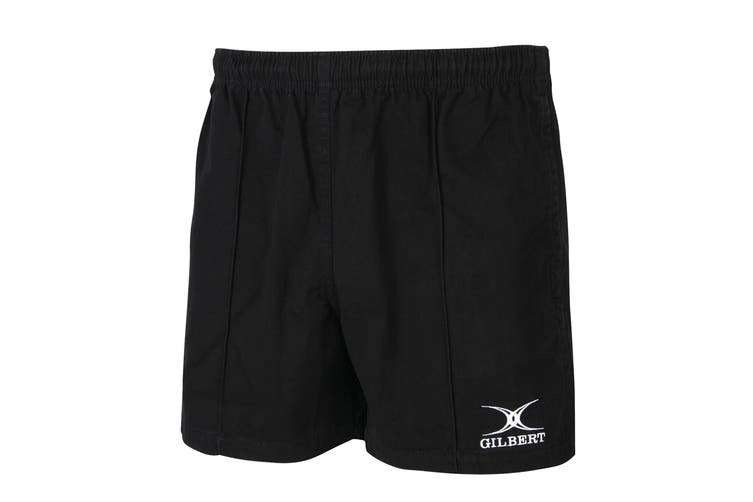 Gilbert Rugby Mens Kiwi Pro Rugby Shorts (Black) (S)