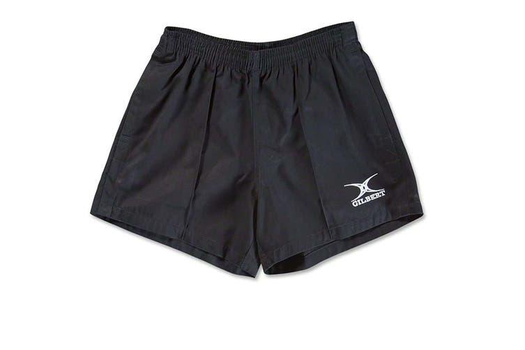 Gilbert Rugby Mens Kiwi Pro Rugby Shorts (Black) (XS)