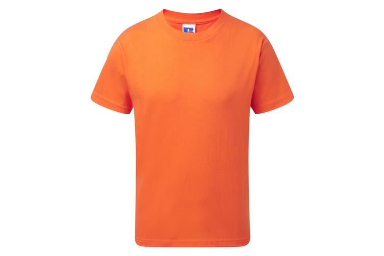 Jerzees Schoolgear Childrens/Kids Slim Fit Cotton T-Shirt (Orange) (9-10 Years)