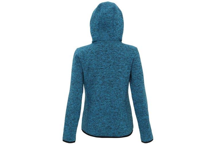 Tri Dri Womens/Ladies Melange Knit Fleece Jacket (Sapphire/Black Fleck) (M)