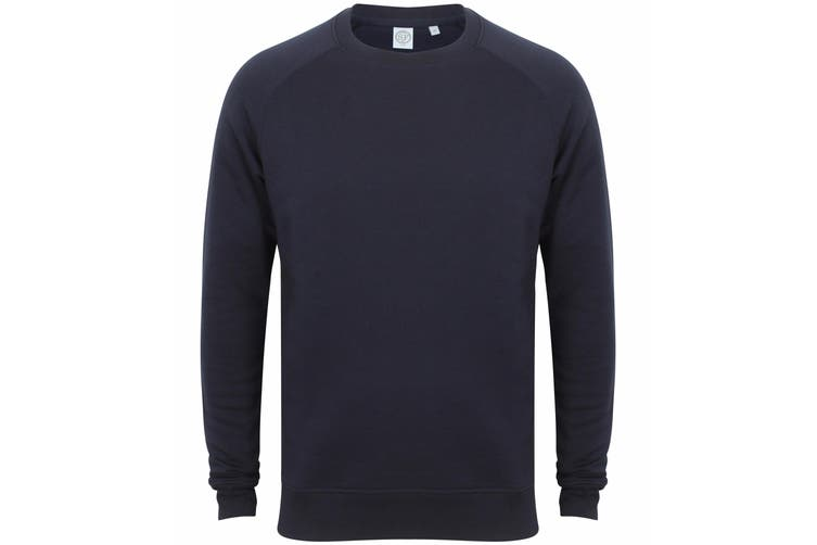 Skinni Fit Unisex Slim Fit Sweatshirt (Navy) (2XS)