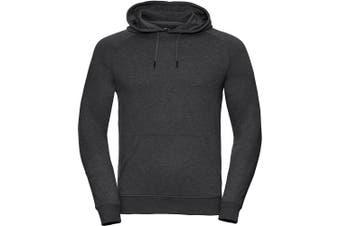 Russell Mens HD Hooded Sweatshirt (Grey Marl) (XL)