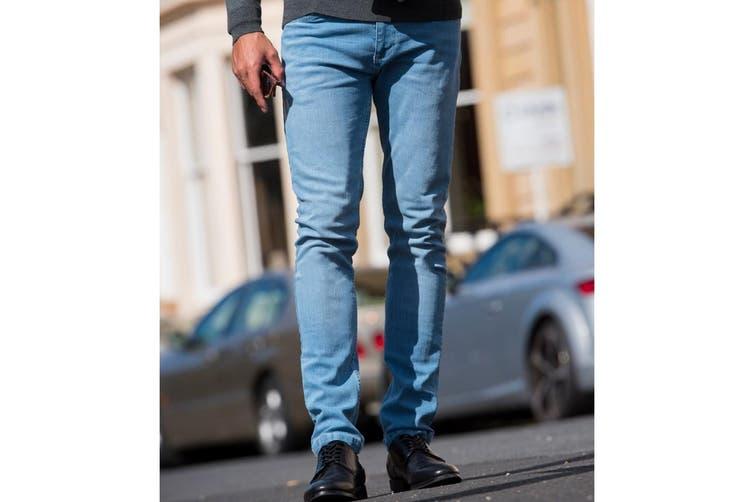 AWDis So Denim Mens Max Slim Jeans (Light Blue Wash) (28R)