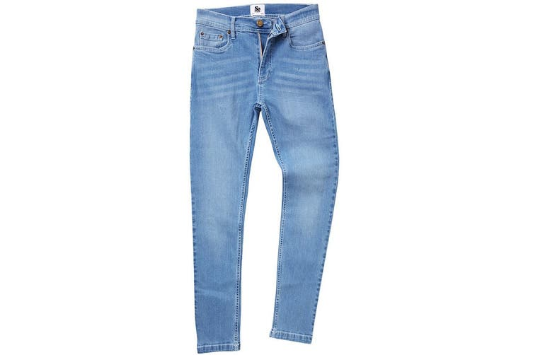 AWDis So Denim Mens Max Slim Jeans (Light Blue Wash) (32R)