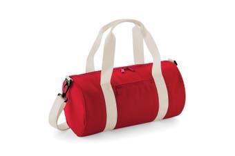Bagbase Mini Barrel Bag (Classic Red/Off White) (One Size)