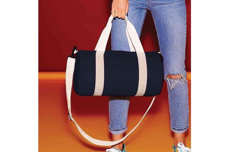Bagbase Mini Barrel Bag (French Navy/Off White) (One Size)