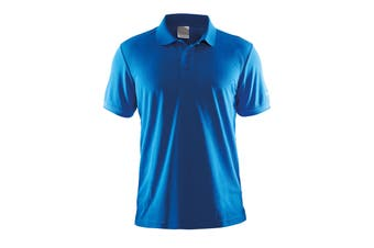 Craft Mens Classic Pique Short Sleeve Polo Shirt (Swedish Blue) (XL)