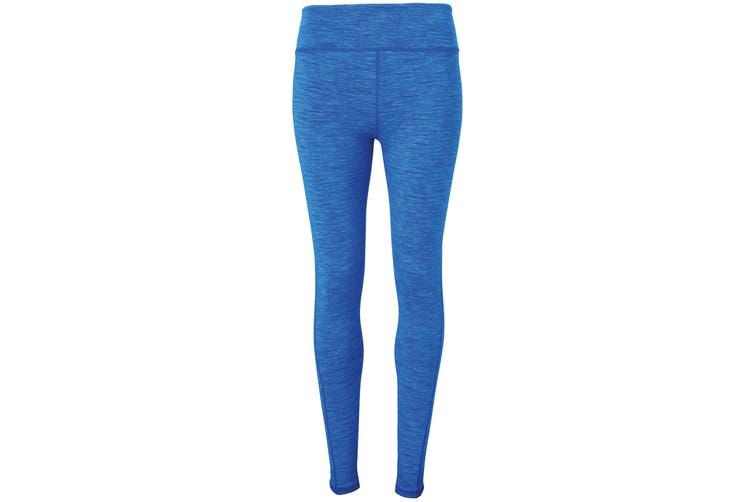 Tri Dri Womens/Ladies Performance Space Dye Leggings (Space Sapphire) (L)