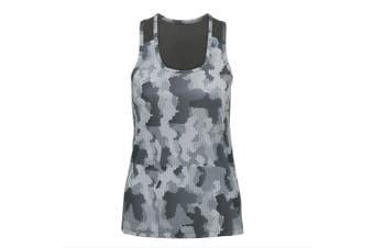 Tri Dri Womens/Ladies Hexoflage Performance Sleeveless Vest (Camo Silver) (XS)