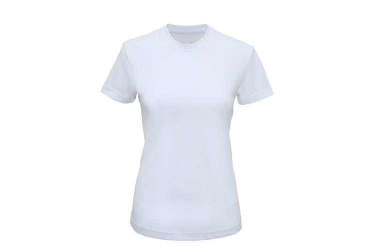 Tri Dri Womens/Ladies Performance Short Sleeve T-Shirt (White) (XL)