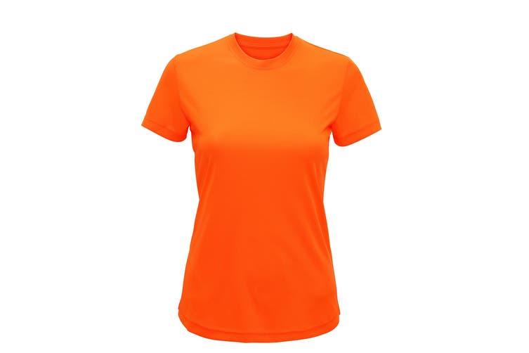 Tri Dri Womens/Ladies Performance Short Sleeve T-Shirt (Lightning Orange) (XS)