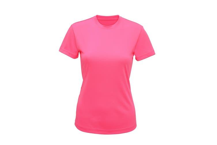 Tri Dri Womens/Ladies Performance Short Sleeve T-Shirt (Lightning Pink) (M)