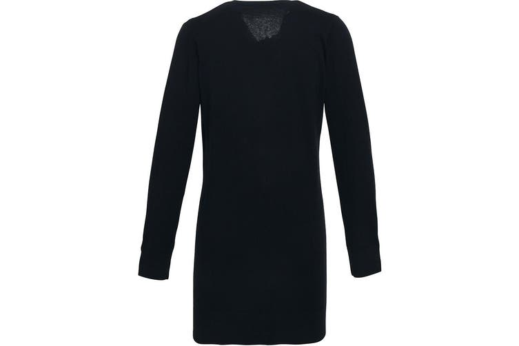 Premier Womens/Ladies Longline V Neck Knitted Cardigan (Black) (22)