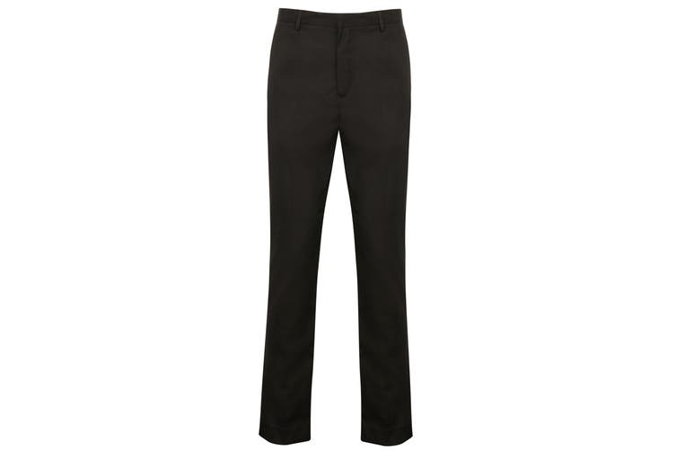 Henbury Mens Tapered Leg Trousers (Black) (32R)