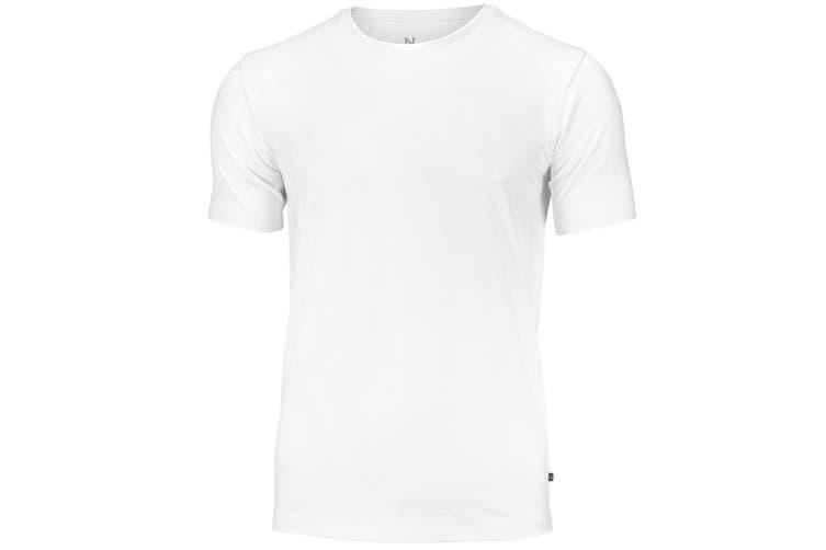 Nimbus Mens Montauk Essential Short Sleeve T-Shirt (White) (2XL)
