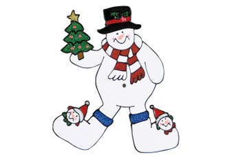 Christmas Shop Window Stickers (Snowman) (One size)