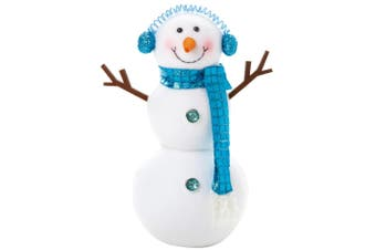 Christmas Shop Peppermint Standing Snowman (White/Blue) (One size)