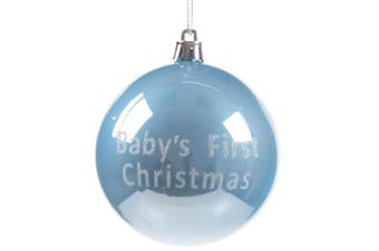 Christmas Shop Babies First Christmas Bauble (Blue) (One size)