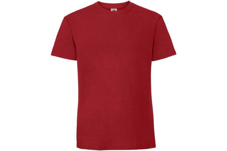 Fruit Of The Loom Mens Ringspun Premium Tshirt (Red) (3XL UK)